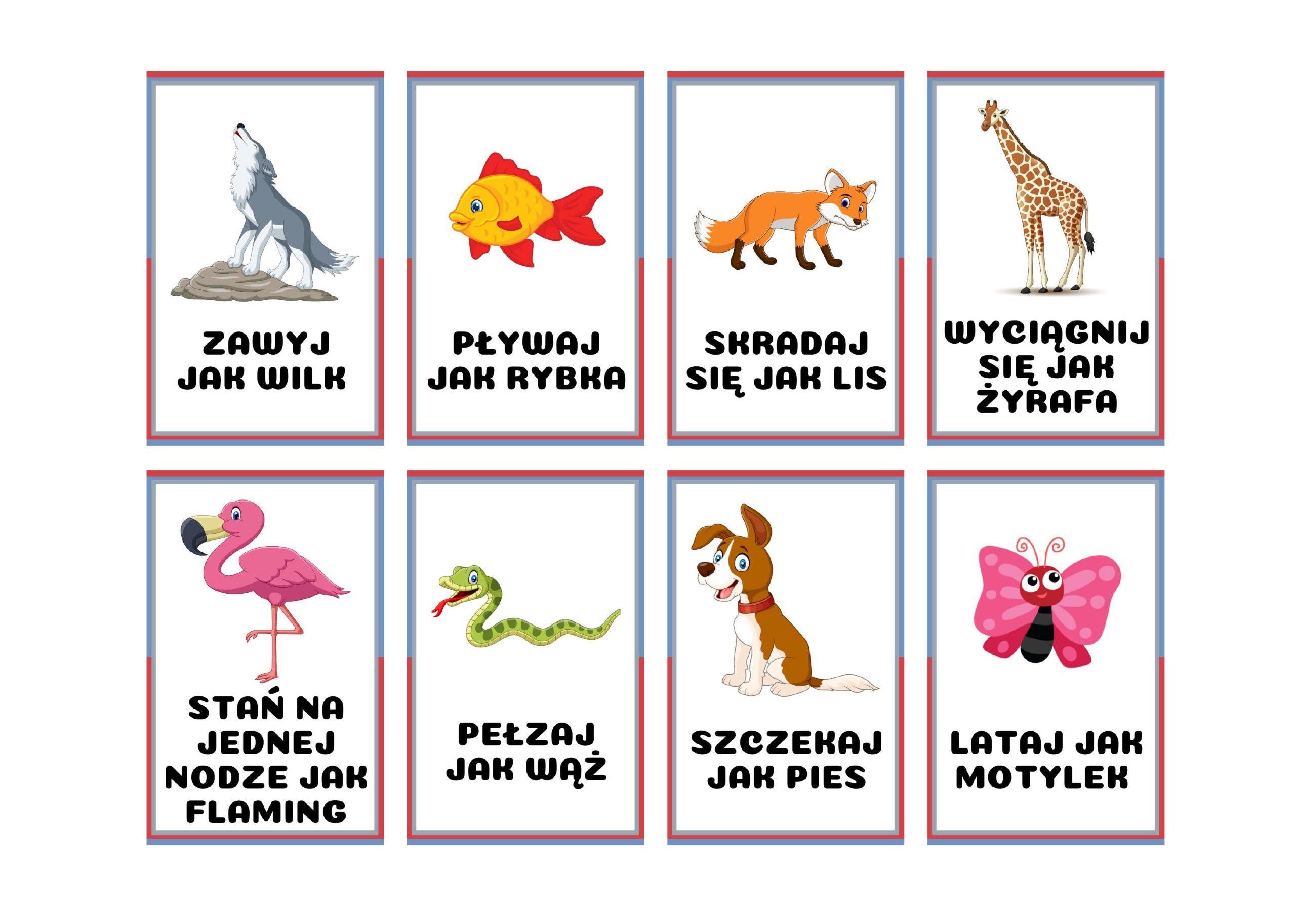 Zabawa ruchowa z kartami – Przedszkole Niepubliczne PANDA